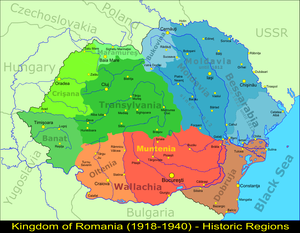Greater Romania - Regions of the Kingdom of Romania (1918–1940)