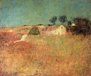 Charles Webster Hawthorne - Green Sky Landscape, circa 1898