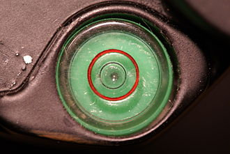Spirit level - A bull's eye spirit level