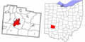 Greene County Ohio Xenia highlighted.png