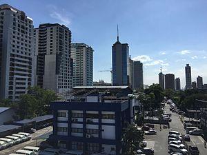 San Juan, Metro Manila - Skyscrapers along Annapolis Street in Greenhills