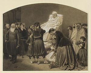 Przed posągiem Napoleona