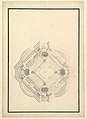 Ground Plan for a Catafalque for Louis I, King of Spain (reigned only a few months, died 1724) MET DP820109.jpg