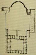 Grundriss der Anlage, die dem Vorbild von antiken Villen gleicht..png