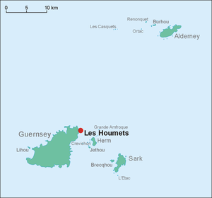 Houmets - Location map of Les Houmets