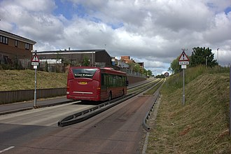 Transport in Luton - The Luton to Dunstable guided busway, opened in 2013