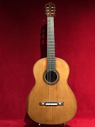 Antonio de Torres Jurado - Image: Guitarra d'Antonio de Torres, MDMB 626, al Museu de la Música de Barcelona