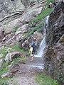 Gunsight Pass Trail and one of the many seasonal melts. Sunday, July 23, 2007 - panoramio.jpg