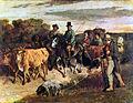 14 / Bauern von Flagey bei der Rückkehr vom Markt
