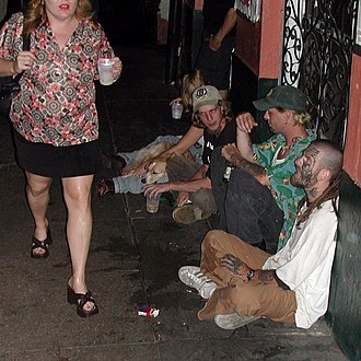 Gutter punk - A group of gutter punks in New Orleans, Louisiana, in May 2002.