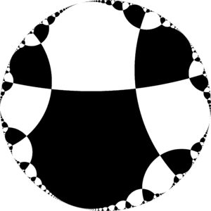 Infinite-order square tiling - Image: H2chess 24ic