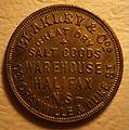 HALIFAX, NOVA SCOTIA, BLAKLEY ^ COMPANY 1882 -TOKEN a - Flickr - woody1778a.jpg