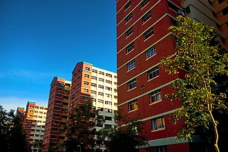 Woodlands, Singapore - Image: HDB flats along Woodlands Avenue 4, Singapore
