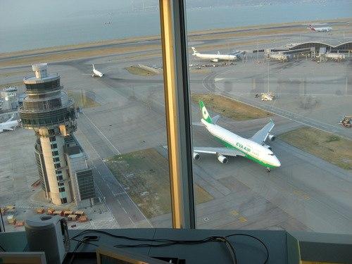 HKG tower view of runway
