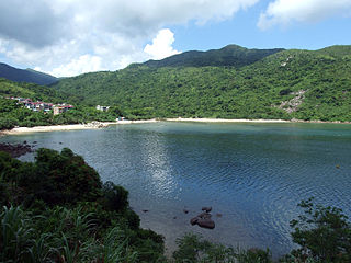 Hoi Ha Wan bay in Hong Kong, Peoples Republic of China