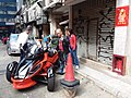 HK Sheung Wan 太平山街 Tai Ping Shan Street shop n carpark motorbike red Can-am Spyder RSS Rotax engine February 2019 SSG 02.jpg