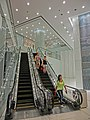 HK TST 港威大廈 The Gateway entrance lobby interior night Sept-2013 escalators.JPG