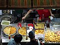 HK Wan Chai 柯布連道 O'brien Road night Lockhard Road Hong Kong Building sidewalk shop street snack food April 2016 DSC (3).JPG