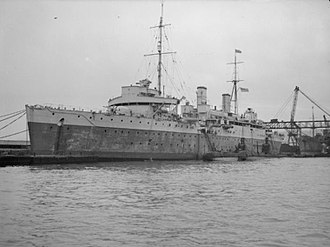 Operation Demetrius - HMS ''Maidstone'' (pictured here in Algiers in the Second World War), a prison ship which docked at Belfast and where many internees were sent