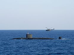 HMS Talent (S92) with Lynx in the Mediterranean Sea 2013.JPG