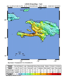Haiti Earthquake Wikipedia - Physical map of haiti