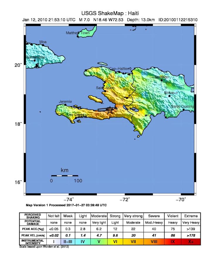 Haiti Jan2010 ShakeMap