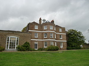 William Ewart (British politician) - Ewart's Hampton home is now Hampton library (the extension on the left is modern)