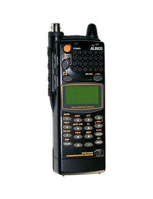 Scanner (radio) - An Alinco DJ-X10 hand-held wide band communications receiver