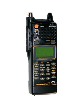 Radio scanner - An Alinco DJ-X10 hand-held wide band communications receiver