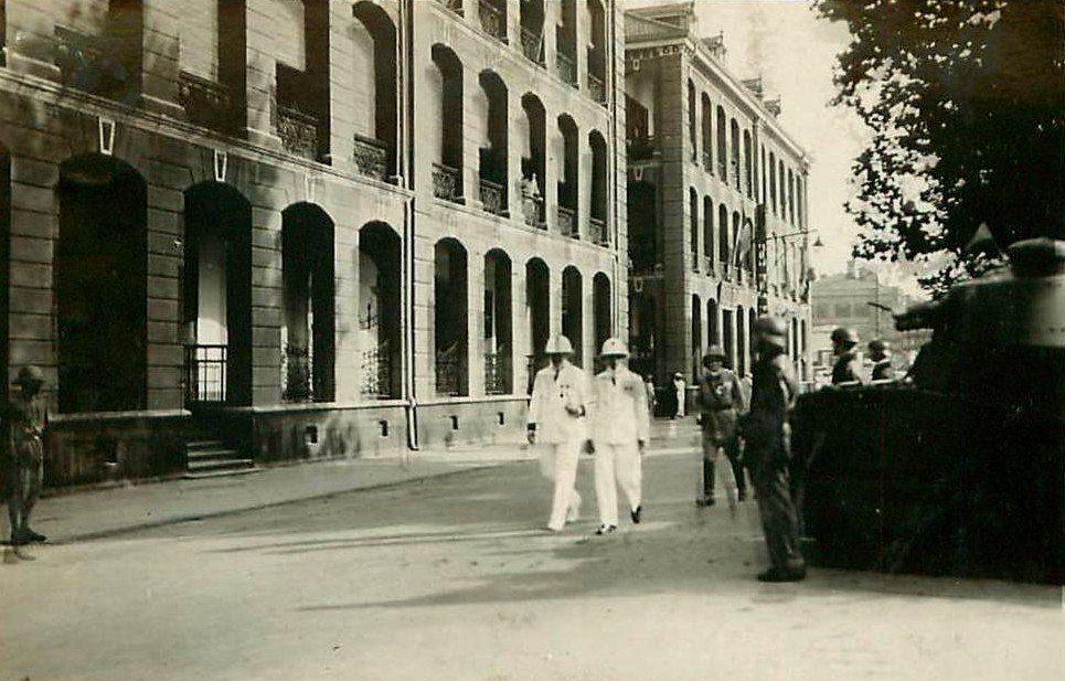 Hankou. Bastille Day ceremonies in the French Concession, 1932.jpg