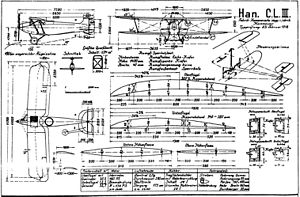 Hannover CL.III - Hannover CL.III drawing
