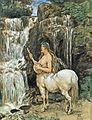 Hans Thoma - Weiblicher Kentaure an einem Wasserfall.jpg