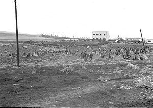 Operation Nachshon - Members of the Harel Brigade assembling at Khulda at the beginning of Operation Nachshon