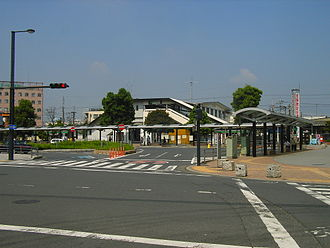 Hasuda Station - East side of the station, June 2005