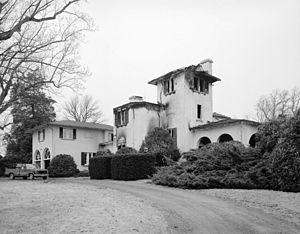 Hawkwood (Gordonsville, Virginia) - Hawkwood after the 1982 fire, HABS Photo, 1985