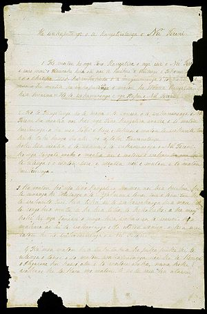 Declaration of the Independence of New Zealand - The first page of the Declaration.