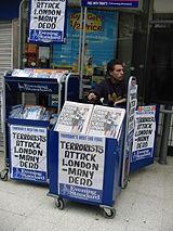 Headlines london bombing 7 july 2005 Waterloo station