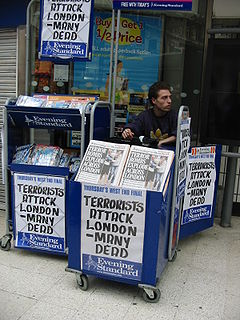 <i>Evening Standard</i> Regional free daily tabloid-format newspaper in London