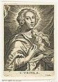 Heilige Ursula met twee pijlen S. Vrsvla (titel op object), RP-P-1886-A-11240.jpg