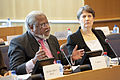 Helen Clark with Nirj Deva at the European Parliament.jpg