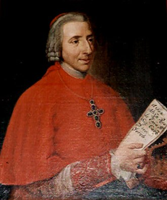 Scots College (Rome) - Henry Benedict Stuart, Cardinal Duke of York from a picture in the Scots College