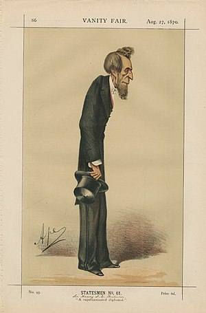 "Henry Bulwer, 1st Baron Dalling and Bulwer - ""A superannuated diplomat"" Bulwer as caricatured by Ape (Carlo Pellegrini) in Vanity Fair, August 1870"
