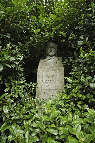 Henry Grattan - The bust of Henry Grattan in Merrion Square, Dublin