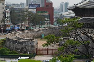 Heunginjimun - Heunginjimun Gate, side view, Seoul, Korea