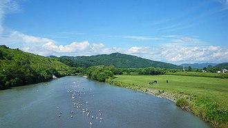 Mitsuishi River - Image: Hidaka Line mountain side