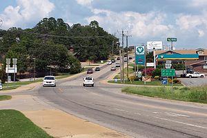 Arkansas Highway 103 - Highway 103 runs north in Clarksville north of the I-40 interchange