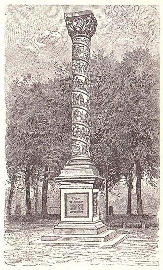 Bernward Column - Image: Hildesheim Christussaeule 1810 1893