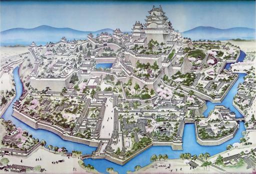 Himeji-Castle-Painting-Early-Meiji-Period