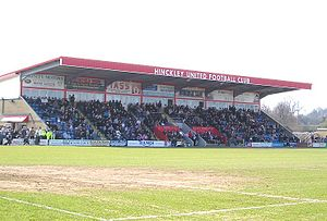 Hinckley United F.C. - The Main Stand.