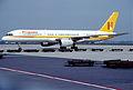 Hispania Boeing 757-23A; N510FP, August 1989 (5424550394).jpg